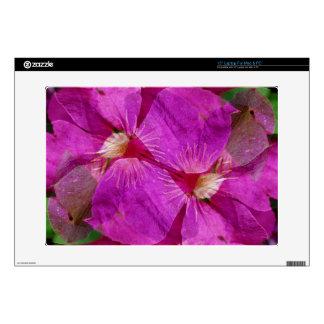"USA, Colorado, Boulder. Clematis flower montage 15"" Laptop Skins"