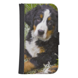 Samsung Galaxy S4 Wallet Case with Bernese Mountain Dog Phone Cases design