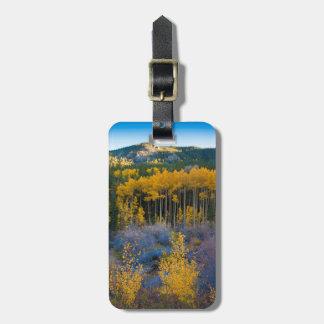 USA, Colorado. Bright Yellow Aspens in Rockies Luggage Tag