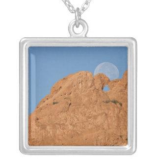 USA, Colorado, Colorado Springs, Garden of the Square Pendant Necklace