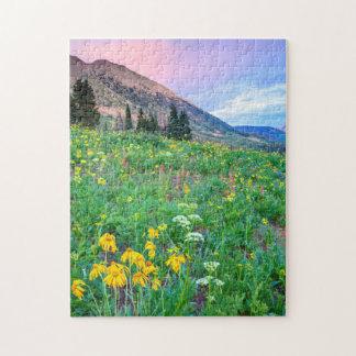 USA, Colorado, Crested Butte. Landscape 2 Jigsaw Puzzle