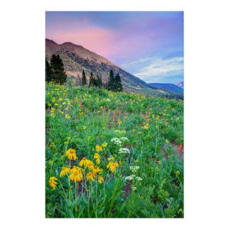 USA, Colorado, Crested Butte. Landscape 3 Poster