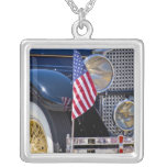 USA, Colorado, Frisco. Vintage Packard auto Square Pendant Necklace