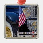 USA, Colorado, Frisco. Vintage Packard auto Christmas Tree Ornaments