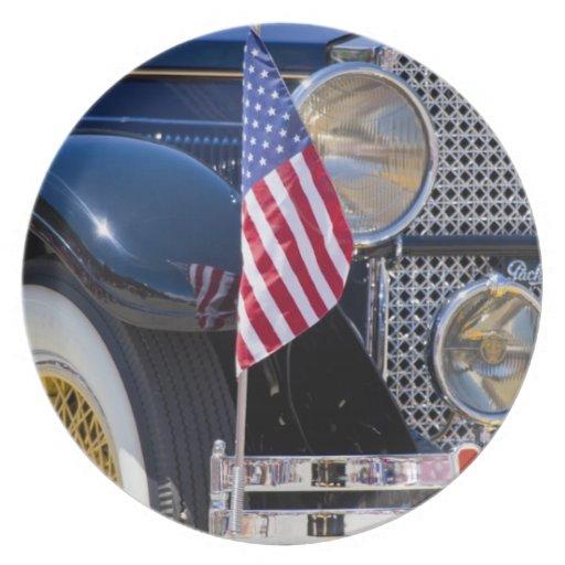 USA, Colorado, Frisco. Vintage Packard auto Party Plates