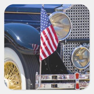 USA, Colorado, Frisco. Vintage Packard auto Square Sticker