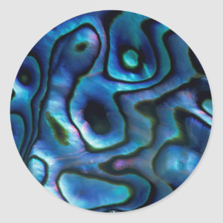 USA, Colorado, Lafayette. Abalone shell Classic Round Sticker