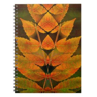 USA, Colorado, Lafayette. Autumn sumac montage Notebook