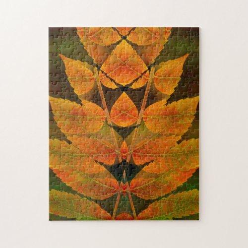 Autumn sumac montage Jigsaw Puzzle