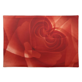 USA, Colorado, Lafayette. Red rose montage Cloth Placemat
