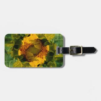 USA, Colorado, Lafayette. Sunflower montage Bag Tag