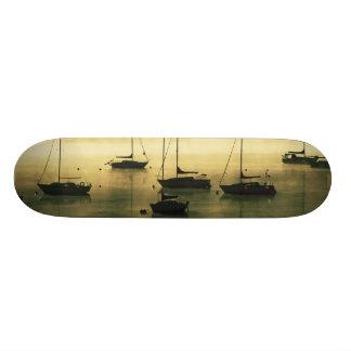 USA, Colorado, Lake Dillon.  The early morning Skate Board Deck