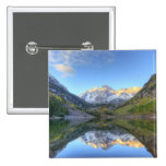 USA, Colorado, Maroon Bells-Snowmass 2 Inch Square Button