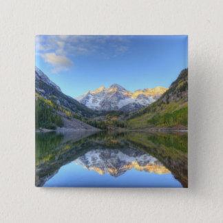 USA, Colorado, Maroon Bells-Snowmass Pinback Button