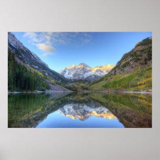 USA, Colorado, Maroon Bells-Snowmass Poster