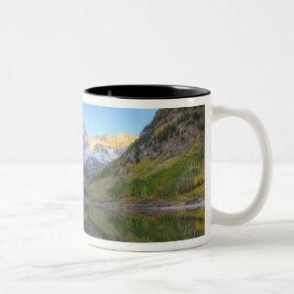 USA, Colorado, Maroon Bells-Snowmass Two-Tone Coffee Mug