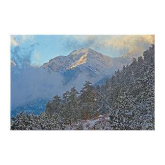 USA, Colorado, Mountains In Estes Park Canvas Print
