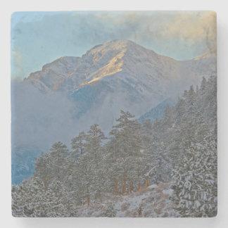 USA, Colorado, Mountains In Estes Park Stone Coaster