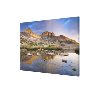 USA, Colorado, Rocky Mountain NP.  Storm clouds Canvas Print