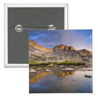 USA, Colorado, Rocky Mountain NP.  Storm clouds Pinback Button