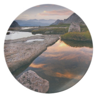 USA, Colorado, Rocky Mountain NP.  Sunrise in Melamine Plate