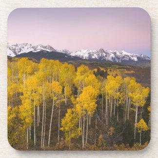 USA, Colorado, Rocky Mountains.  Dawn in the San Beverage Coaster