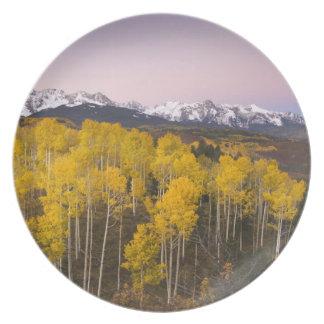 USA, Colorado, Rocky Mountains.  Dawn in the San Melamine Plate
