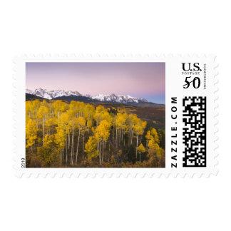 USA, Colorado, Rocky Mountains.  Dawn in the San Postage
