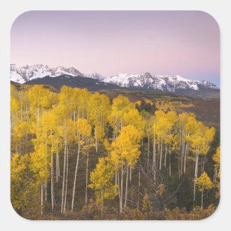 USA, Colorado, Rocky Mountains.  Dawn in the San Square Sticker