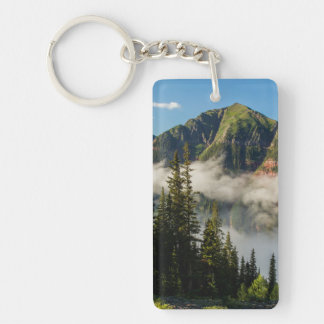 USA, Colorado, San Juan Mountains. Clearing Double-Sided Rectangular Acrylic Keychain