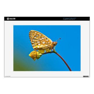 "USA, Colorado. Skipper butterfly on flower stem Skins For 15"" Laptops"