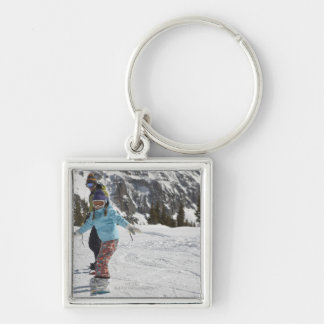 USA, Colorado, Telluride, Father and daughter 2 Keychain