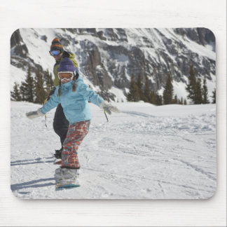USA, Colorado, Telluride, Father and daughter 2 Mousepad
