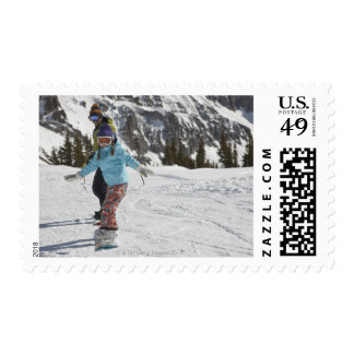 USA, Colorado, Telluride, Father and daughter 2 Postage