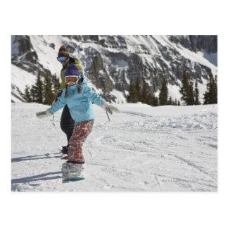 USA, Colorado, Telluride, Father and daughter 2 Postcard