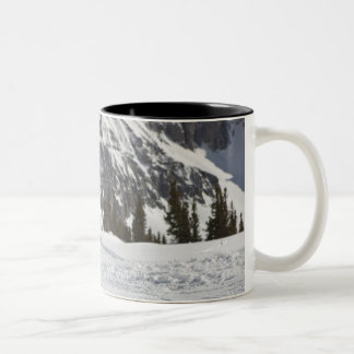 USA, Colorado, Telluride, Father and daughter 2 Two-Tone Coffee Mug