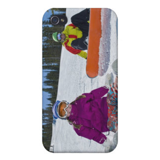 USA, Colorado, Telluride, Father and daughter 3 iPhone 4 Case