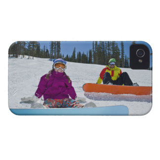 USA, Colorado, Telluride, Father and daughter 3 iPhone 4 Cover