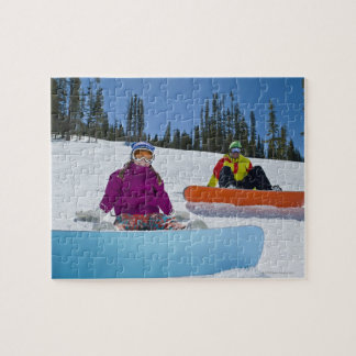 USA, Colorado, Telluride, Father and daughter 3 Jigsaw Puzzles