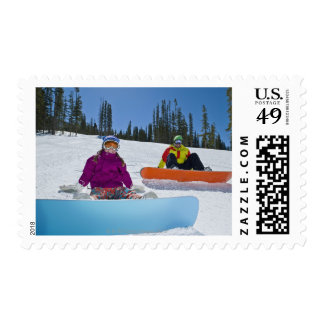 USA, Colorado, Telluride, Father and daughter 3 Postage