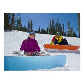USA, Colorado, Telluride, Father and daughter 3 Postcard