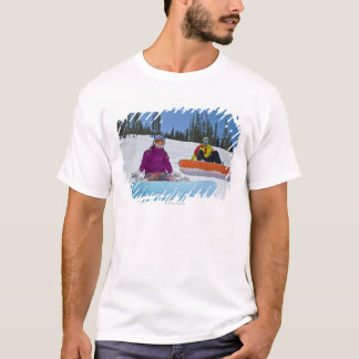 USA, Colorado, Telluride, Father and daughter 3 T-Shirt