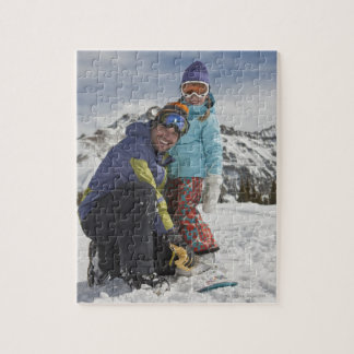 USA, Colorado, Telluride, Father and daughter Jigsaw Puzzle