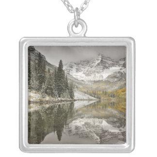 USA, Colorado, White River National Forest, Square Pendant Necklace