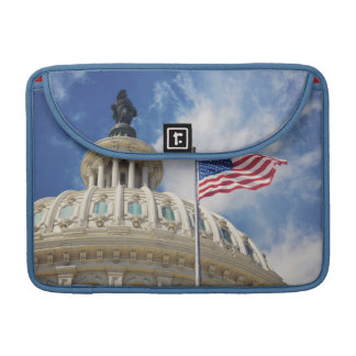 USA, Columbia, Washington DC, Capitol Building Sleeve For MacBooks
