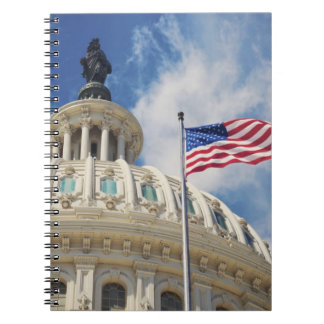 USA, Columbia, Washington DC, Capitol Building Spiral Note Book