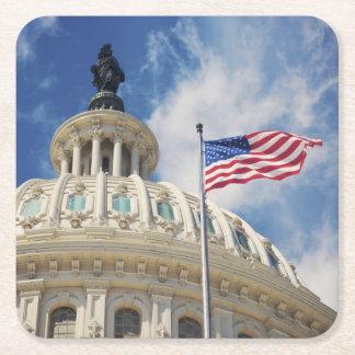 USA, Columbia, Washington DC, Capitol Building Square Paper Coaster