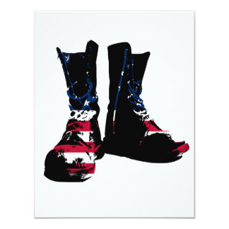 USA Combat Boots 4.25x5.5 Paper Invitation Card