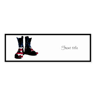 USA Combat Boots Mini Business Card