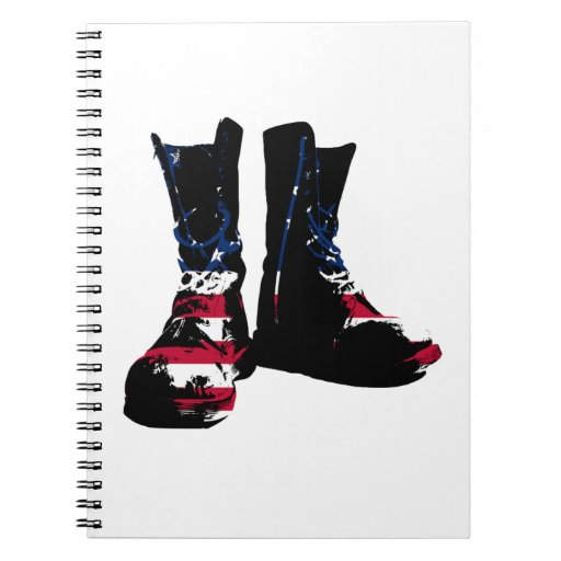 USA Combat Boots Spiral Note Books